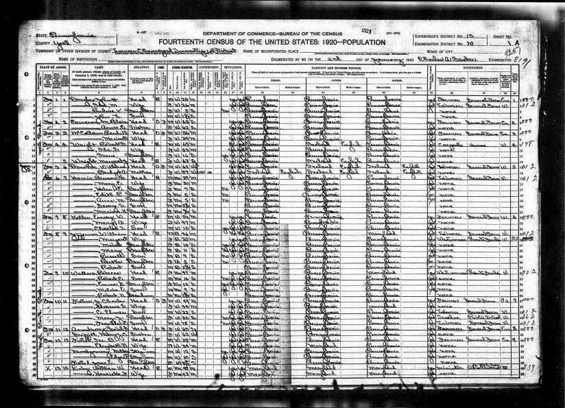 1920UnitedStatesFederalCensusForMaryEHarris
