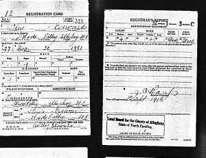 U.S.WorldWarIDraftRegistrationCards1917-1918ForWileyEdwards